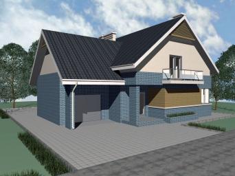 Проект дома из пеноблоков с мансардой. Дом из пеноблока с