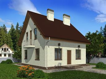 Проекты домов из пеноблоков 8 на 8. Дом из пеноблока 8х8 м в Москве