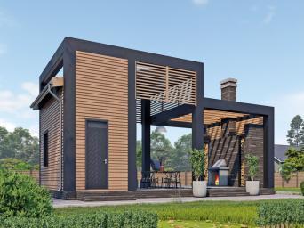 Проекты одноэтажных домов из бруса. Одноэтажные дома из бруса в Москве