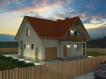 Проекты домов из пеноблоков с мансардой и гаражом. Дом из
