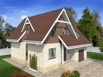 Проекты домов 12 на 12 с гаражом. Дом размером 12 х 12 м с гаражом